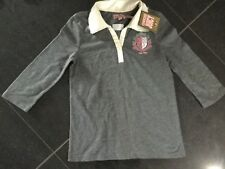 NWT Juicy Couture New & Genuine Girls Age 8 Grey Cotton 3/4 Sleeved Polo Top