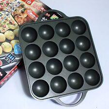 Japanese Takoyaki Maker Grill Pan Cooking Plate Stove 16 holes