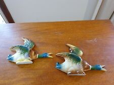 Pair Of Vintage Flying Ducks