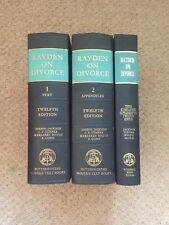 Rayden and Jackson on Divorce and Family Matters: 2 Vol-Set and Third supplement