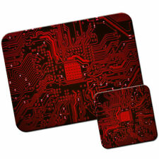 Red Memory Technology Board Mouse Mat / Pad & Coaster