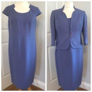 NWT COUNTRY CASUALS Lavender Dress & Jacket Suit  Sz 14 & 12 Petite MOTB Wedding