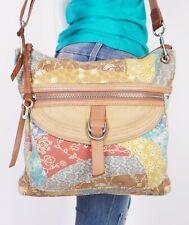 FOSSIL Large Multicolor  Leather Shoulder Hobo Tote Satchel Purse Bag