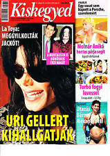 MICHAEL JACKSON,URI GELLER,HELENA CHRISTENSEN,FREDDIE MERCURY Hungarian magazine
