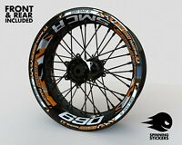 Wheel Stickers for KTM SMC R 690 Rim Tape Motorcycle Decals Graphics