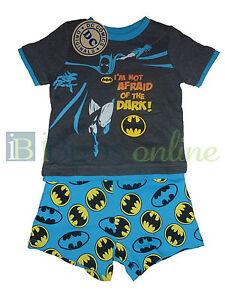 BNWT Baby Boys Batman DC Comics Summer Pyjamas PJs Set - Sizes 0 2