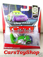 Disney Cars Wingo with Flames Tuners Pixar Green Big wing spoiler Sports TOY