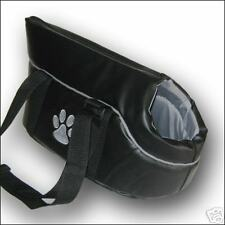 Dog carrier bag BLACK carry shoulder hand cat pet SMALL