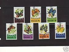 GRENADA, COMPLETE SET OF 7 TO $2 'BUTTERFLIES' 1975