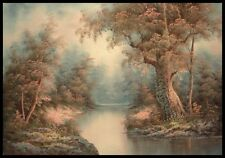 "* 36""x24"" Oil Painting on Canvas, Woodland Stream"