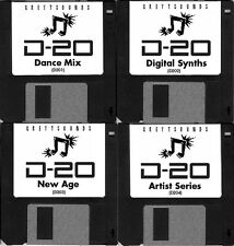 Roland D-20 / D20 4-bank synth patch set - sent to you via email
