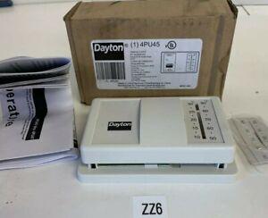 NEW IN BOX QUALITY DAYTON 4PU45 Low Voltage Thermostat,  24VAC White~Warranty~