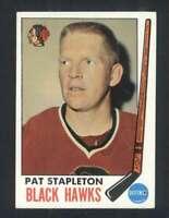 1969-70 Topps #69 Pat Stapleton NM/NM+ Blackhawks 128179