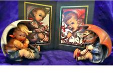 "Pair Goebel Hummel Figurines W/Prints, ""Umbrella Boy & Girl"", # Hum 152/0 A & B"