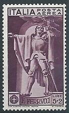 1930 REGNO POSTA AEREA FERRUCCI 5 LIRE MNH ** - ED1061-2