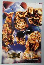 "1995 Fleer Marvel Metal Prints MetalPrints Thing 6.5"" x 10"" Oversize Card"
