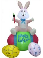 Easter Decorations Outdoor Inflatable Airblown Easter Bunny Easter Eggs Basket