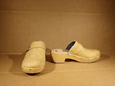 Dr. Scholls Throwback Tan  SlipOn Clogs Mules Comfort Womens 9 M