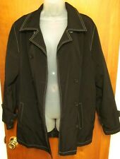 ESPRIT lrg Fall biker trench jacket 1980s reverse stitch throwback coat retro