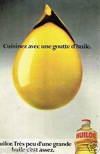 Publicité advertising 1979 Huile d'Arachide Huilor