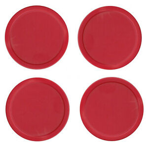 4 Red Commercial Air Table Hockey Pucks Large 3.25 Inch