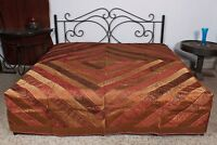 Comforter Brown Bedding Bedroom Rayon Style Line Bed Sheet 225 X 260 CM Coverlet