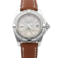 Breitling Galactic Quartz 32mm Steel Diamonds Ladies Strap Watch A71356la/g702