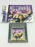 Nintendo Game Boy Color Who Wants To Be A Millionaire 2nd Edition Game Cartridge