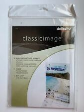 """Deflect-O Classic Image Sign Holder, 8.5"""" x 11"""", Wall Mount,Clear Plastic 68201"""