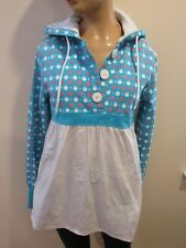 NOMIS Womens Blue/White Pullover Hooded Sweatshirt Size M
