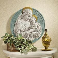 15th-century Madonna and Child by della Robbia Roundel Sculpture Reproduction