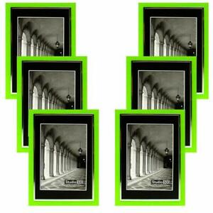 Studio 500 5 x 7 Color Picture Frames, Sleek Frames in Various Colors, 6 pack