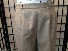 Talbots Brown Dress Lined Wool Blend Pants Womens Size 12 Petites Waist  30 X 28