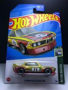 2022 Hot wheels Super Treasure Hunt STH>'73 BMW 3.0 CSL,US Card + Protector Mint