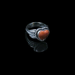 Coral Gemstone Ring 925 Sterling Silver Wide Band Ring Handmade Ring Jewelry B33