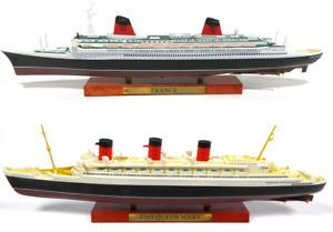 Lot de 2 Paquebots Le France + Le Queen Mary échelle 1:1250 (25cm) bateau
