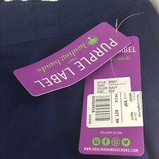 Purple Label by Healing Hands Taylor 9095 Navy Scrub Pant Size XSpetite NWT
