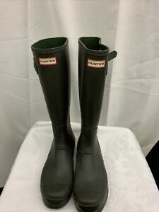 HUNTER DARK GREEN RAINBOOTS..SZ 11M