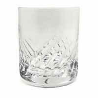 Crystal Double Old Fashioned Cocktail Glass Swirl Cut 12 oz