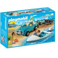 Playmobil 6864 - Surfer Pickup with Speedboat Play Set with Action Figures