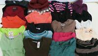 Wholesale Bulk Lot of  20  Women's Size Large Tops Sweaters LS & SS Mix