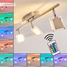 Plafonnier LED Changeur de couleur Lustre Lampe à suspension transparente Métal