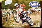 KTM Motocross Poster, 1972 Swiss 250cc Grand Prix, Guennady Moiseev, Vintage