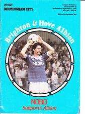 Brighton & Hove Albion v Birmingham City 1986 / 87 Div 2 - September 3rd 1986
