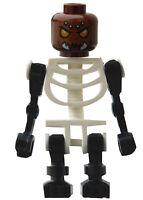 Lego Skelett schwarz weiss Kopf Sparratus Minifigur Figur Legofigur Monster Neu