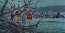 Mort Kunstler Night Crossing Limited Edition Civil War Print S/N