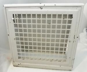 Vintage Antique Steel Register Wall/Baseboard Grate Heat Vent 16Hx151/2Wx5D max