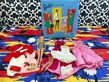 Vintage 1959 Barbie by Ponytail Mattel with Blonde Hair and Clothing Accessories