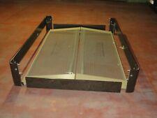 Sommier multispire pour deux personnes 2 x 80/200 cm avec cadre en bois foncé