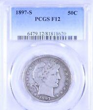 1897-S Barber Half Dollar : PCGS F12
